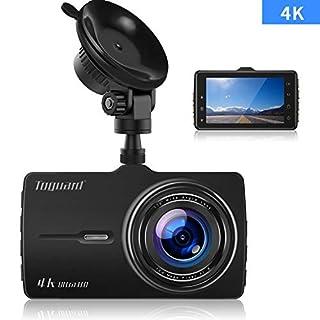 Autokamera 4K Ultra HD, Dashcam, TOGUARD Armaturenbrett Kamera 3 Zoll LCD-Bildschirm Recorder Fahren 170 ° Weitwinkel, G-Sensor, WDR, Parkmonitor, Loop-Aufnahme, Bewegungserkennung