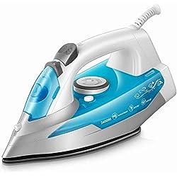 Fer à Repasser 2400W - KTC Fer à Vapeur - 300 ml - Bleu (anti-tartre, système anti-goutte, fonction d'auto-nettoyage)