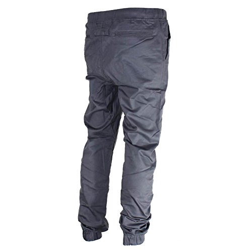 Pantaloni da Jogging Uomo - Slim Fit Sportivi Tacksuit Confortevole Vita Elastica Jogger Pantalone Casual Allenamento Fitness Pantaloni Grigio