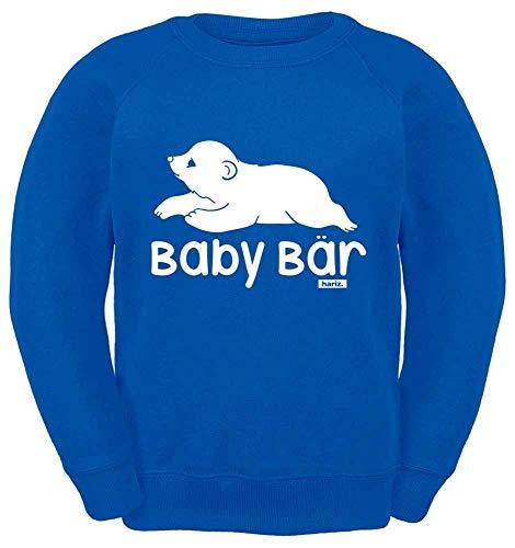 HARIZ Kinder Sweater Baby Bär Süß Tiere Dschungel Inkl. Geschenk Karte Royal Blau 116/5-6 Jahre -