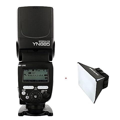Yongnuo YN685 Flash Speedlite 1/8000 s GN60 TTL 2.4 G Wireless pour Canon DSLR caméra compatible avec le système sans fil de YONGNUO 622C/603 + diffuseur softbox