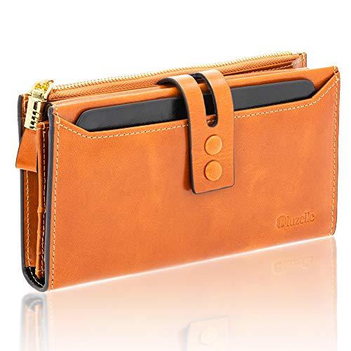 5ec8b82aef64f6 BLUZELLE Genuine Leather Ladies Wallet - Premium, Shiny & Noble Design -  Multi-Card