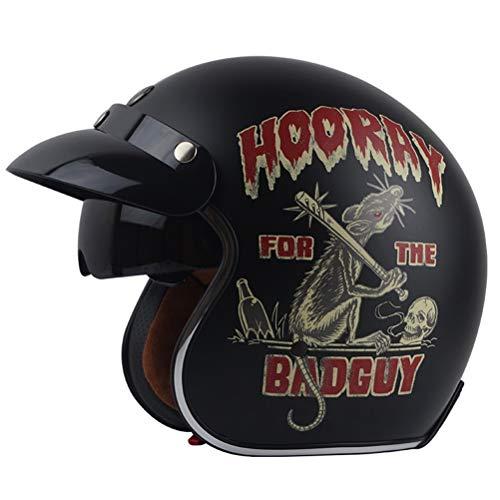 Adulto retrò Harley moto casco costruito in occhiali da sole 3/4 aperto faccia caschi uomini donne universale leggero Simpson casco racing tappi di sicurezza