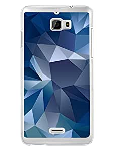 Coolpad F1 Back Cover - Blue Abstract Poly - Designer Printed Hard Shell Transparent Sides