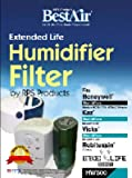 Bestair HW500 Wick Filter, For Use with Humidifier, 5 X 19 X 1 in, Aluminum, White