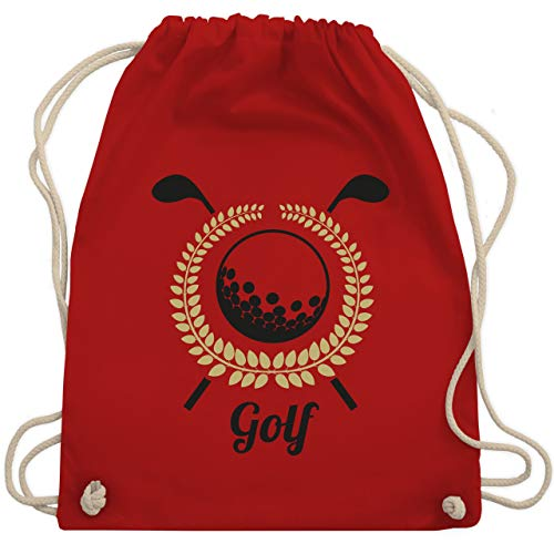 Golf - Lorbeerkanz Golfschläger Golfball - Unisize - Rot - WM110 - Turnbeutel & Gym Bag