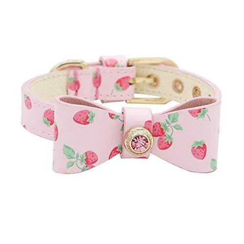 LANA Einstellbare Hundehalsband Cute Crystal Bowtie Collar für Hunde Katzen mit Metallschnalle, Coole Hundehalsband für Katzen kleine Hunde (Size : L) -