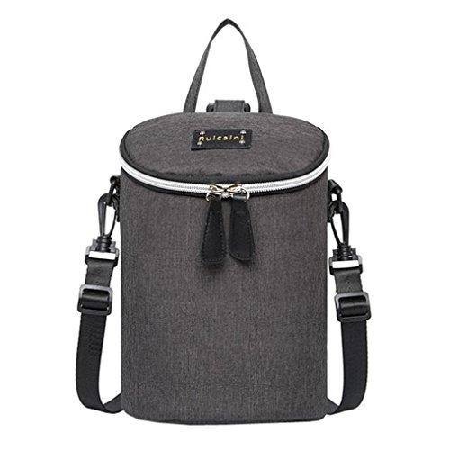 Multifunktionale Mutter-Kind-Tasche, Portable Mommy Windel Taschen Wasserdichte Schultertaschen Schwarz