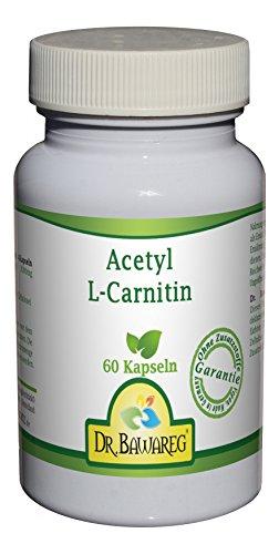 Acetyl-L-Carnitin - 60 Vegi-Kapseln - je 500mg - ALC - ohne Zusatzstoffe - Dr. Bawareg - 500 Mg 60 Vegi-kapseln