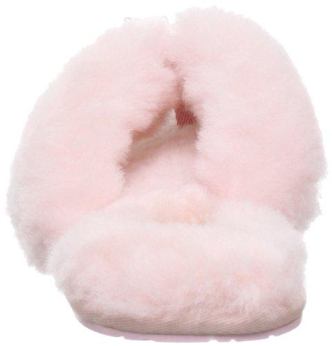 UGG Fluff Flip Flop II Pantofole A collo basso, Donna Rosa (Rose - Pink (BPNK (Baby Pink)))
