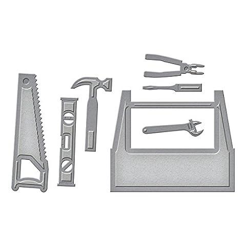 Spellbinders d-lites Toolbox sterben, braun (Metall Cut Saw)
