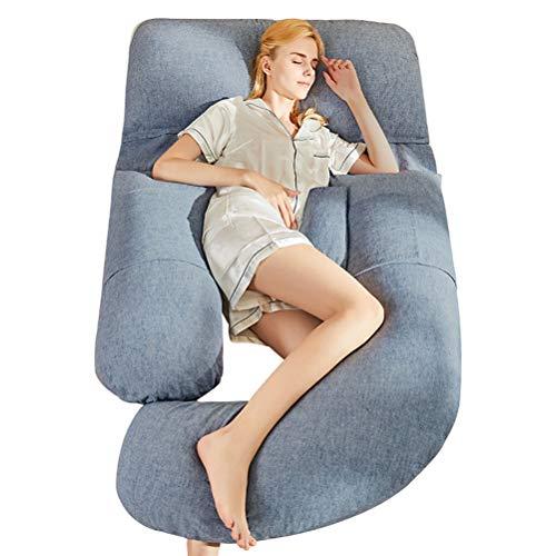 Kis Y U-Form Schwangerschaftskissen Baumwolle Und Leinen Seitenschläferkissen Korrektur Der Schlafhaltung Verbessern Sie Das Schlafen