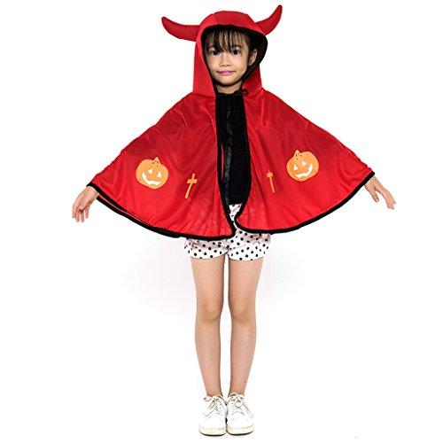 Halloween Kinder Kleidung Horn Umhang Cradle Umhang ( Color : Red )