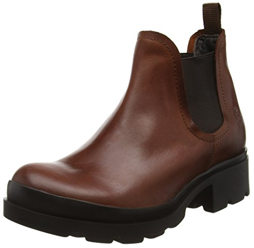 FLY London Damen Mena Chelsea Boots Braun (Brick 005)