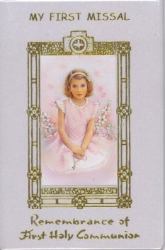 MY FIRST MISSAL- Remembrance of First Holy Communion. - GIRL - with Plastic Binding with Gold Stamped