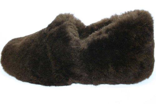 Coolers Chaussons femmes en peau de mouton véritable Fluffy 8 Marron