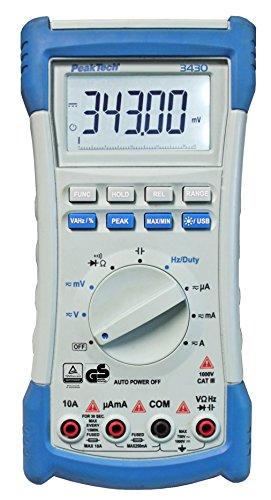 Preisvergleich Produktbild PeakTech Truerms Digital-Multimeter - 4 1/2-stellig (22000 Counts) - mit USB - Cat III 1000V / CAT IV 600V, 1 Stück, P 3430
