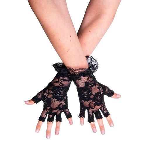 (DOXMAL Handschuhe Schwarz Lace fingerlos Halloween Dekorative Handschuhe der Damehexe 1 Paar)
