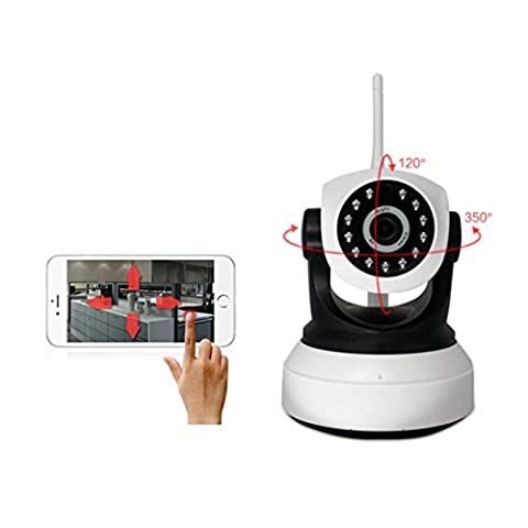 Système de caméra IP WLAN, webcam de surveillance Wifi Jour/Nuit Détection de mouvement, enregistrement, sans fil WiFi Camera Baby Monitor pour iOS Android