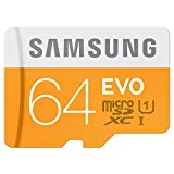 Samsung Micro SD/SDXC Class 10 UHS-I Memory Card (Up To 48 MB/s with Adapter – 64 GB