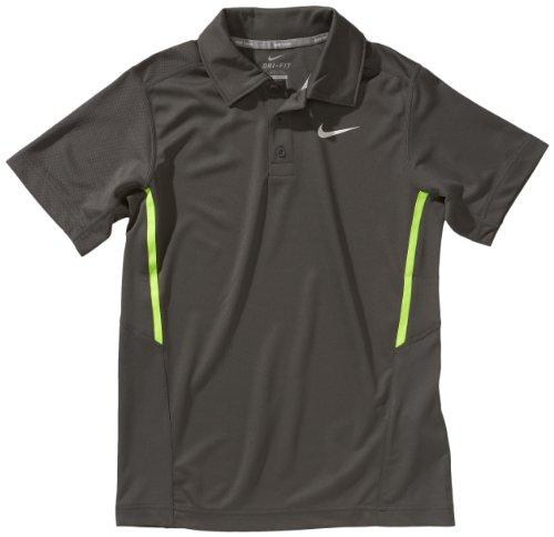 Nike Jungen Polo T-Shirt NET UV midnight fog/volt/white