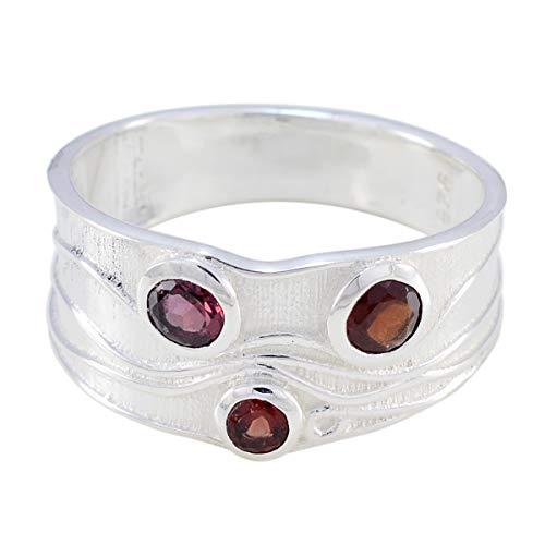 Chandra Edelsteine (schöner Edelstein faincy facettierter Granatring - Sterling Silber roter Granat schöner Edelsteinring - Mädchenschmuck meistverkauftes Läden Geschenk für Freunde höchster Ring)