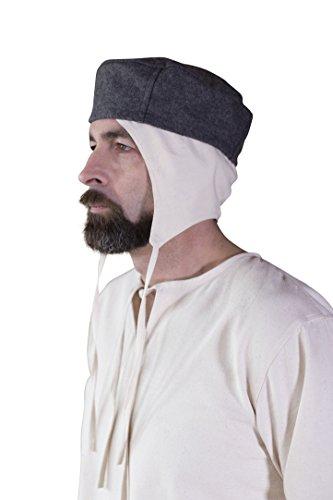 Herren Kostüm Für Bauern - Kappe Hugo - Grau (57cm)