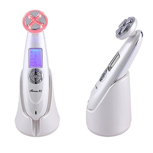Schönheitsgerät für Gesicht, RF Frequenz Lifting, ION, Photon, Massage Funktionen, Nadelfreie Mesotherapie, anti Falten, Antiaging, Hautstraffung, EMS Muskelstimulation, Mesotherapie