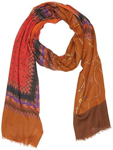 Elena mirò stola con stampa, sciarpa donna, (multicolore 04), one size (taglia produttore:01)