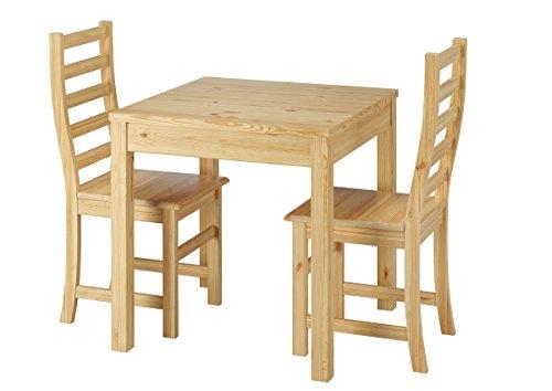 Erst-Holz Essecke mit Tisch und 2 Stühle Tischgruppe Kiefer Natur Massivholz 90.70-50 A -Set 21