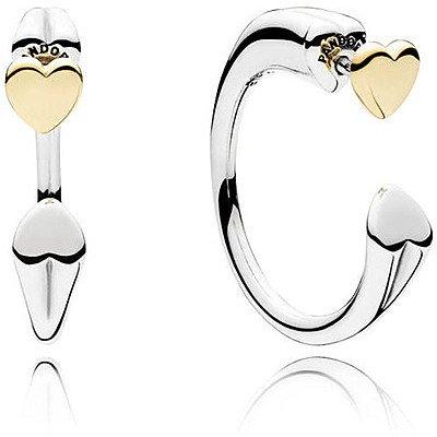 Pandora orecchini a cerchio donna argento - 296576