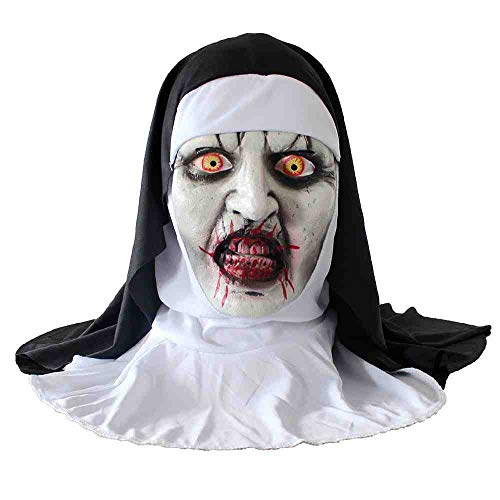 Witze Auf Kostüm Adult Sie - DSWIME Halloween Zombie Adult ungiftig PVC Maske Lustige Scary Devil Zombie Dress Up Requisiten Latex Horror Gesichtsmaske Kostüm Party