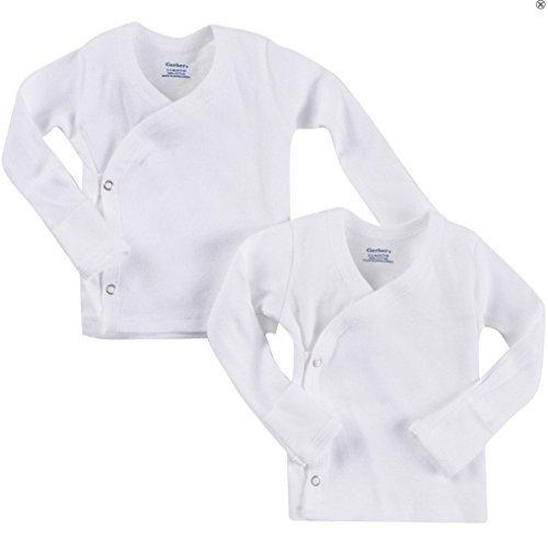 Gerber Unisex 2Pack Seite Snap Fäustling Manschetten mit Frühchen langärmlig - Seite-snap-shirt