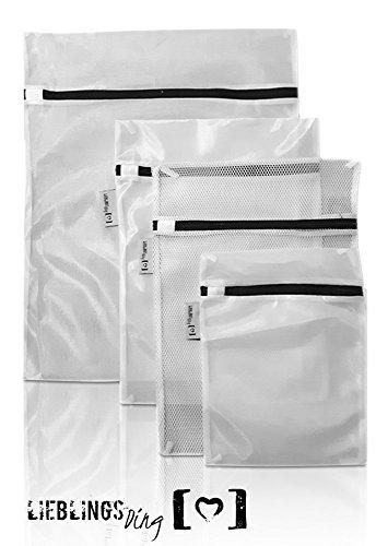 LIEBLINGSDING Wäschenetz für Waschmaschine [ 5 Teile ] optimaler Schutz für Dessous und Feinwäsche | Wäschesack Wäschebeutel (Feinwäsche Bhs)