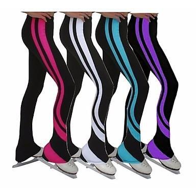 TT&Dress Über die Schlittschuhe reichende Strumpfhosen fürs Eiskunstlaufen Damen Mädchen Eiskunstlaufkleider Weiß Purpur Himmelblau Rot Dehnbar, Purple, 155