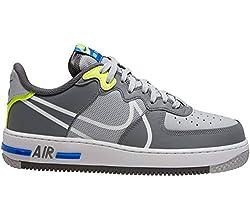 Nike Air Force 1 React, Mehrfarbig - Wolf Grey White Smokey Grey - Größe: 43 EU