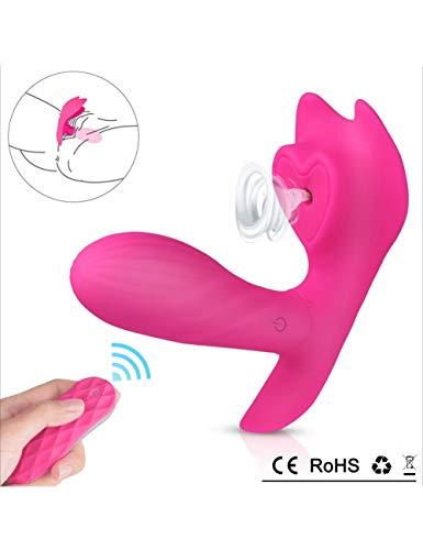 KCoob USB Electric Toy für Frauen Quiet Powerful Strong Suction mit Silikon 10 Multispeed Wireless Remote Vǐberate Toys Mini-Spielzeug für Frauen (Color : Rose Red)