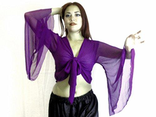 Kostüme 20 Top (Bauchtanz Choli Winged Arm Top Tribal Gypsy Kostüm UK Größe 12-24 - bis XXXL (18-24,)