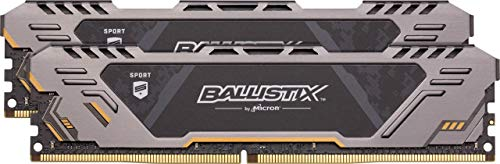 Ballistix Sport AT BLS2K8G4D30CESTK Kit Memoria da Gioco da 16 GB (8 GB x 2), DDR4, 3000 MT/s, PC4-24000, Single Rank x8, DIMM, 288-Pin