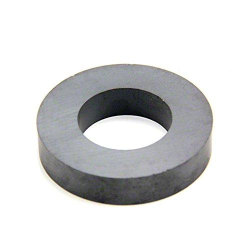 first4magnets™ FR744015-1 Y30BH Ferrit Ring Magnet, 7 kg Pull, 1 Packung, Metall, silber, 74 mm Außendurchmesser x 40 mm Innendurchmesser x 15 mm dicken (40mm Ring-pull)
