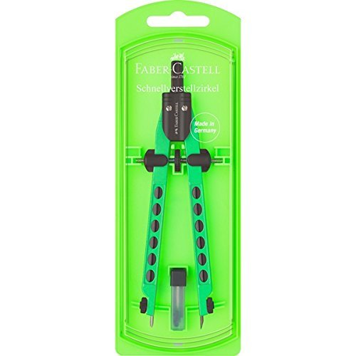 Faber-Castell 174335–Compasso Factory Neon Verde