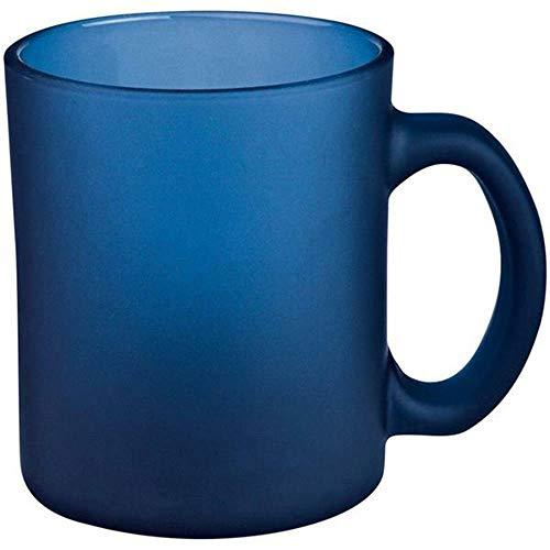 Vertrieb durch Setkon Kaffetasse blau gefrostet aus Glas