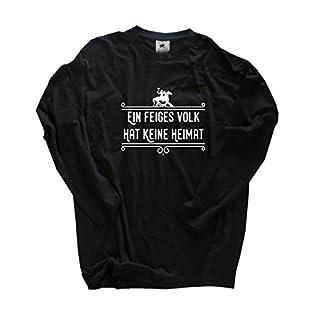 Viking Shirts - Ein feiges Volk hat keine Heimat Wikinger Longsleeve-T-Shirt Schwarz XXL