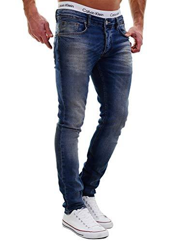 MERISH Jeans Herren Slim Fit Jeanshose Stretch Designer Hose Denim 501 (30-30, 501-3 Denim)