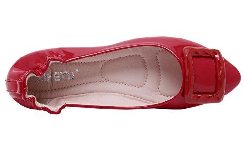 DQQ da donna, con tacco, motivo scarpe Rosso (rosso)