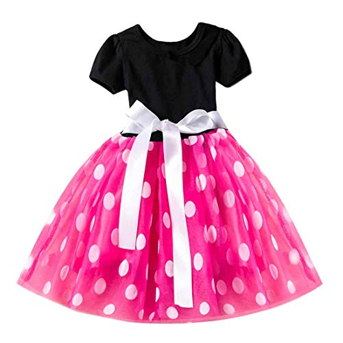 Inlefen Cosplay Prinzessin Party Kleiden Bowknot Tüll Taufe Tutu Kleid Perfekt Geburtstag Geschenk für Mädchen