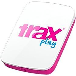 Trax Play T140007 - Dispositivo de localización GPS (batería 510 mAh, USB, 72 h, Resistente al Agua) Blanco/Rosa