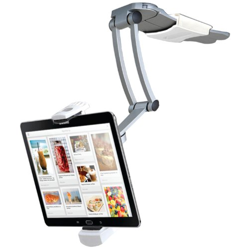CTA Digital 2in1 iPad Kitchen Mount Stand Pasivo Plata - Soporte (Tablet/UMPC, Pasivo, Interior, Plata, Aluminio, - iPad Air - iPad Mini - iPad 2 - iPad 3 - iPad 4)