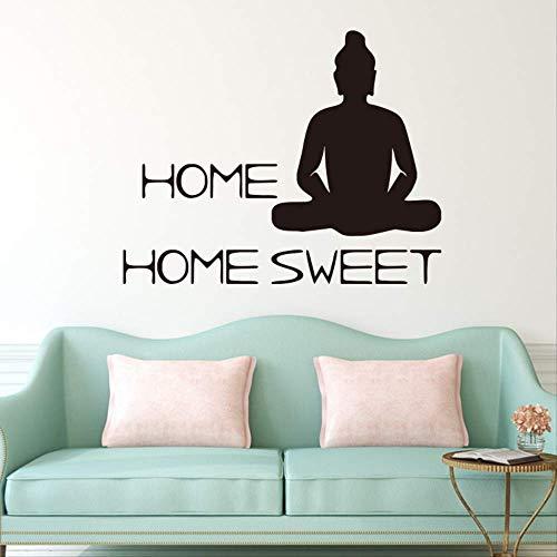 Geschnitzte Kreative Buddha Schlafzimmer Wohnzimmer Wandaufkleber Entfernbares Dekorpapier