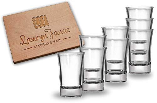 Lauryn Janae Premium Glaswaren 26.5oz Extra Groß Super Größe Glas Bier Stein Drink Becher parant 1.5oz Shot Glass/Dessert Samplers farblos